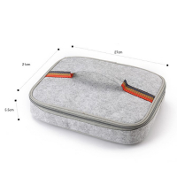 Promotional Portable Lunch Bag Warm Cold Insulated Felt Thermal Cooler Travel Picnic Container