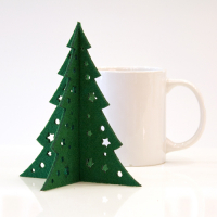 Custom Desk Small Decoration Christmas Tree 15 (H) x 13 (W) cm