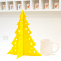 Desk Decoration Laser Cut Felt Christmas Tree Medium 30 (H) x 25.3 (W) cm