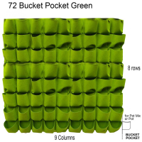 Custom Garden Pots Vertical Garden Hanging Green Wall Planters-72 Bucket Pockets