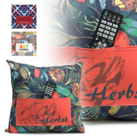 Sublimation cushion cover 45x45cm with 3 front pockets without zipper closure
