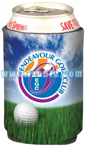 "Sublimation Collapsible Insulator Neoprene Beverage Holder Cooler-4"" W x 4"" H x 1/8"" Thick"