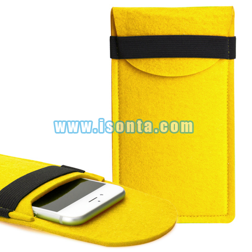 Custom Felt Phone Pouch with Protective Cover for iPhone 6 Plus/6s Plus