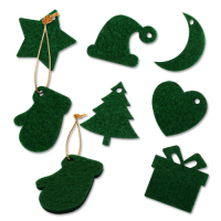 Custom Felt Hangings Xmas Ornaments for Christmas Tree 4x4cm
