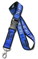 Wholesale Silk Screen Printed Double Layered Polyester Satin Lanyards-20mm width