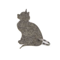 Custom Designer Wool Felt Key Chain Hanger- Cat Shaped