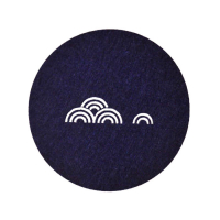 Round Felt Coaster Glass Mat with Imprinted Chinese Style Pattern