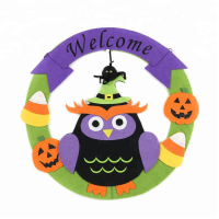 """Benutzerdefinierte Halloween Owl Design Wandbehang Kranz Party Dekoration"