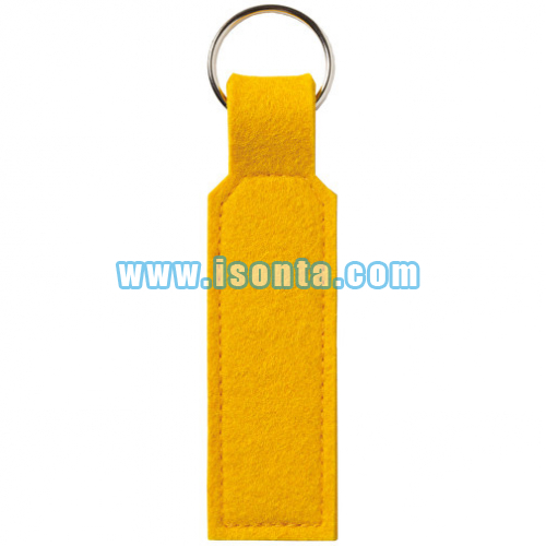Wool Felt Key Ring Rectangle-Gold
