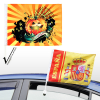 Sublimation Medium Custom Car Flags mit 17-Zoll-Stick