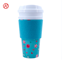 Custom Reusable Cup Holders Felt Coffee Cup Sleeve for 8oz 12oz 16oz