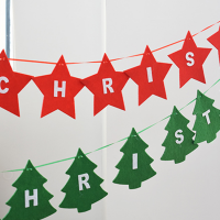 "Felt ""Merry Christmas"" Banners Wall Hanging Bunting Flags"