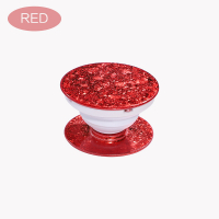 Benutzerdefinierte Glitter-Pop-Socket-Handy-Stent-Telefongriff -Red