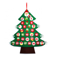 Large Novelty Felt Christmas Advent Calendar Countdown Calendar