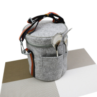 Promotional Working Lunch Bag Thermal Insulated Felt Tote Picnic Bag Food Storage Cooler Box
