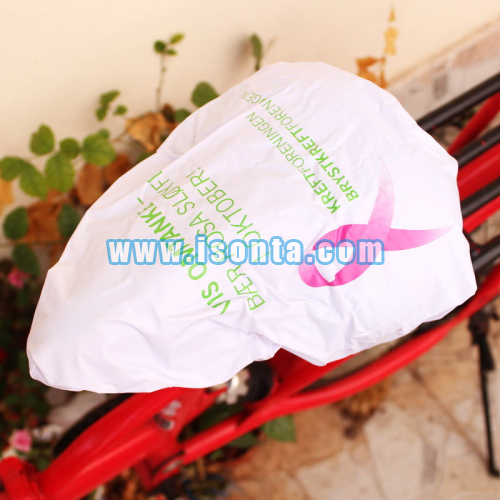 Silk Screen Printed PVC Exercise Bike Seat Cover Seat Stationary Cover