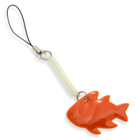 Custom Fish Reflective PVC Label Tag with Mobile String