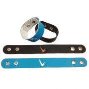 1''x 9'' (2.5*23cm) Leather Wristband Snap Bracelet Awareness Wristband