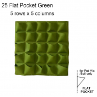 Vertical Wall Mount Garden Plant Bags Live Growing Bags Pots-25 Flat Pockets