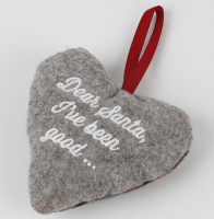 """Новогоднее украшение Felt Christmas Tree Heart Hanging Ornament"