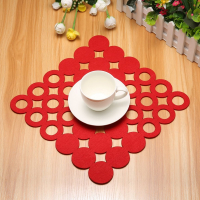 Felt Placemat Table Mat Heat Resistant Dining Table Coaster Kitchen Home Decoration