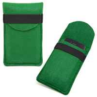 Custom Felt Mobile Phone Pouch Bag with Protective Cover for iPhone 5-Green