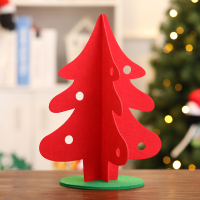 Custom Felt Mini Christmas Tree Xmas Ornaments Table Decoration