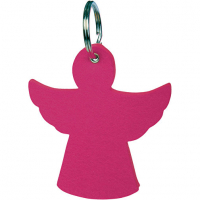 Wool Felt Keyrings Hangers Pendants-Angel 8.3cm x 7.9cm