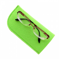Polyester Felt Eyeglasses Bag Eyewear Sleeve Eyeglasses Case 18 x 9 cm