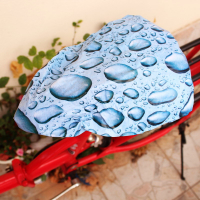 Full Color Waterproof PVC Bike Bicycle Seat Saddle Cover-Whole Cutting