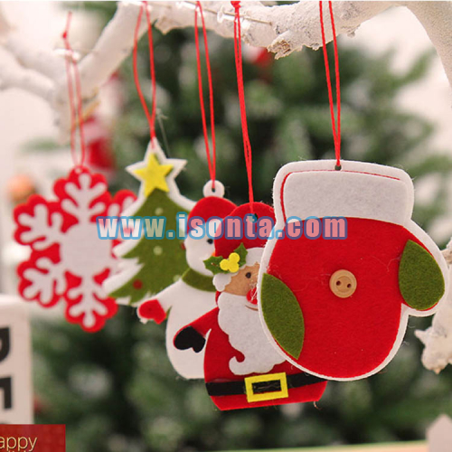 Personalized Felt Hangings Christmas Ornaments Xmas Tree Decoration