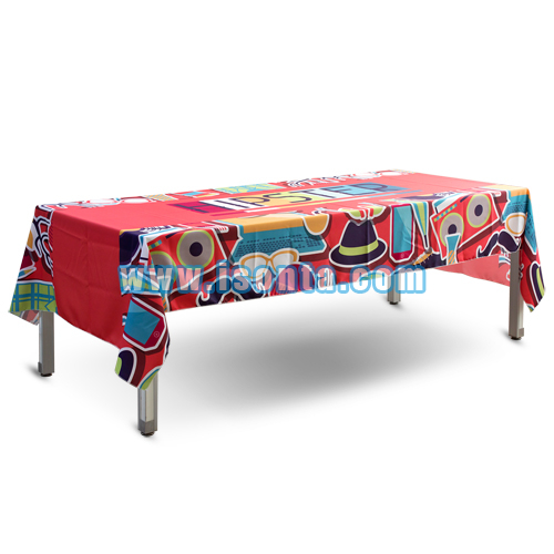 Sublimation Logo Table Throws for table size of 100x200cm