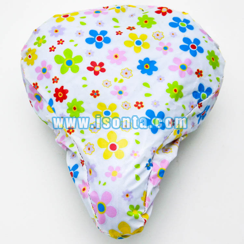 210T Water Repellent Sublimation Bike Seat Cover with Two Pieces Sewn Design