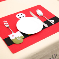 Custom Christmas Decoration Felt Dining Table Mat Christmas Placemat
