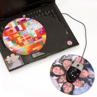 Circular 3-in-1 Notebook Mouse Pads