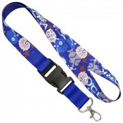 "1"" (25mm) Multi-color Sublimation Lanyards Heat Transferred"