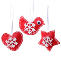 Custom Felt Christmas Tree Ornaments Supplies Party Hanging