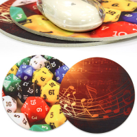 Custom Sublimation Felt Colorful Circular or Free-Contour Mouse Mats (5mm thick)