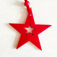 Custom Felt Christmas Ornaments Xmas Tree Hanging Decoration-Star