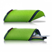 Double Zipper Synthetic Felt Pencil Bag Pencil Case