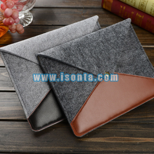 Customized Envelope Leather & Felt iPad Sleeve Cover