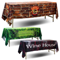 Sublimation Logo Table Throws for table size of 60x180cm