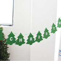 "Felt ""Merry Christmas"" Banners Wall Hanging Bunting Flags-Stars"