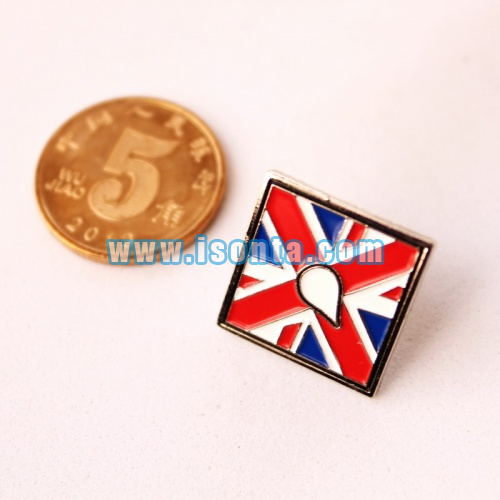 Custom Die Struck Soft Enamel Flag Lapel Pins-Sport Lapel Pins Square Gifts