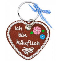 Ribbon Heart Keyring Polyester Felt Keychain Key Tag Key Holder Pendant 5cm