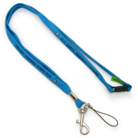 Promotional Silk Screen Printed Recycled PET Lanyards-1cm Width