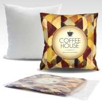 49x49cm Cushion with sublimation printed cover without zipper closure