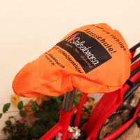 Screen Printed Waterproof 210D Polyester Outdoor Bicycle Saddle Cover