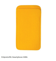 Polyester Felt Smartphone Cover 14 x 7.5 cm-Orange