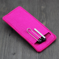 Portable Felt Pen Sleeve Protector Cover-Hot Pink